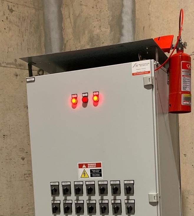 Elektrik Panosu Gazlı Söndürme Sistemi